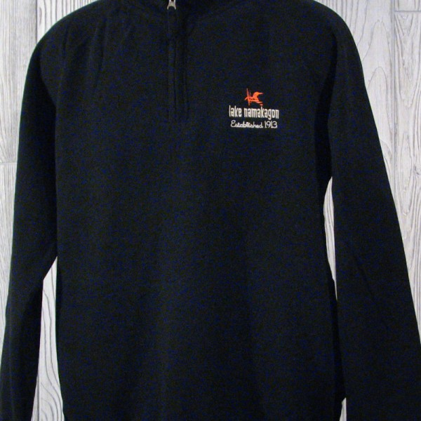 Lake Namakagon Black 1/4 Zip Pullover