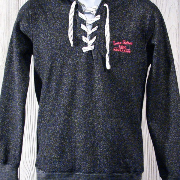 Loon Saloon Lace-Up Hooded Sweatshirt
