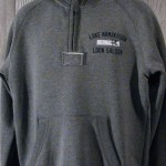 1/4 Zip Pouch Pocket Pullover Sweatshirt Gray