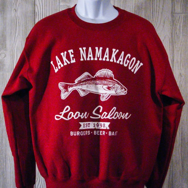 """Burgers, Beer & Bait"" Walleye Crewneck Sweatshirt"
